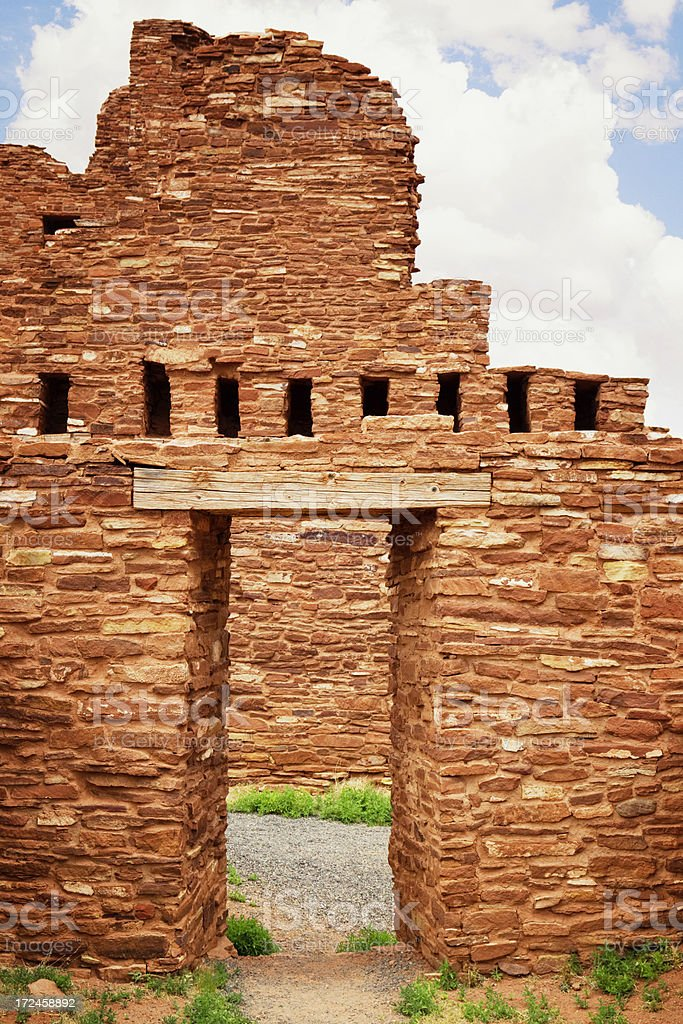 Abo Ruins - Salinas Pueblo Missions National Monument royalty-free stock photo