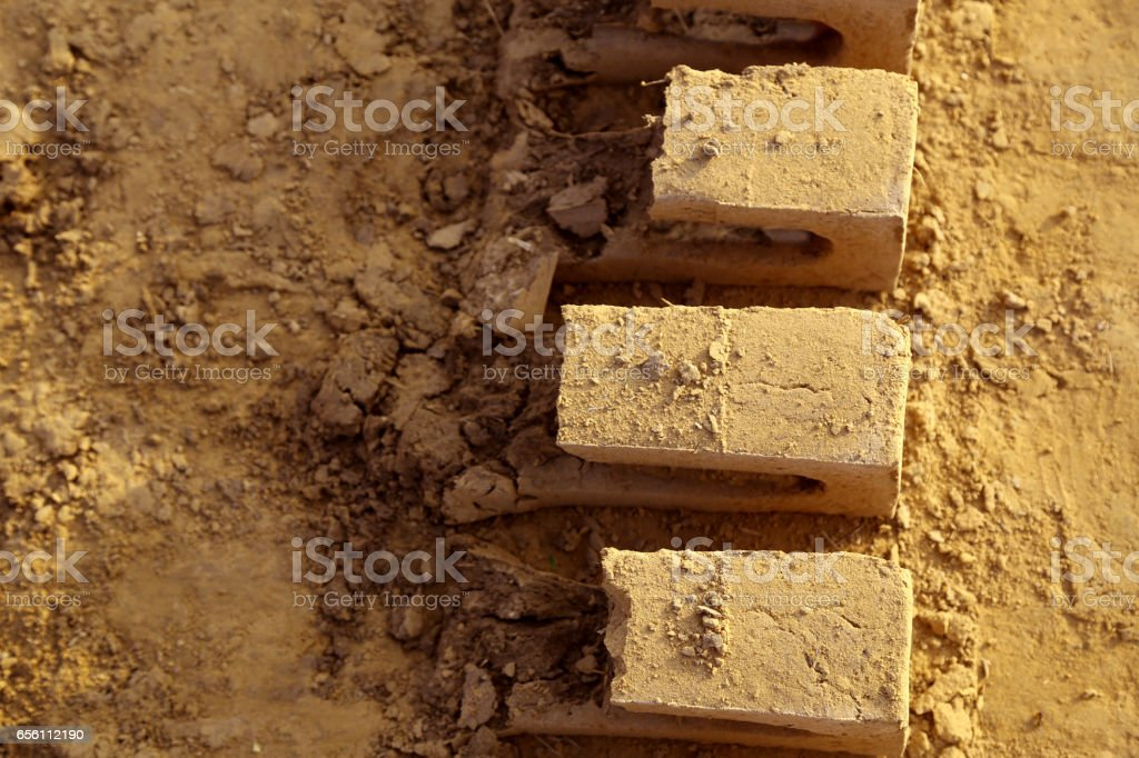 Abode broken bricks stock photo
