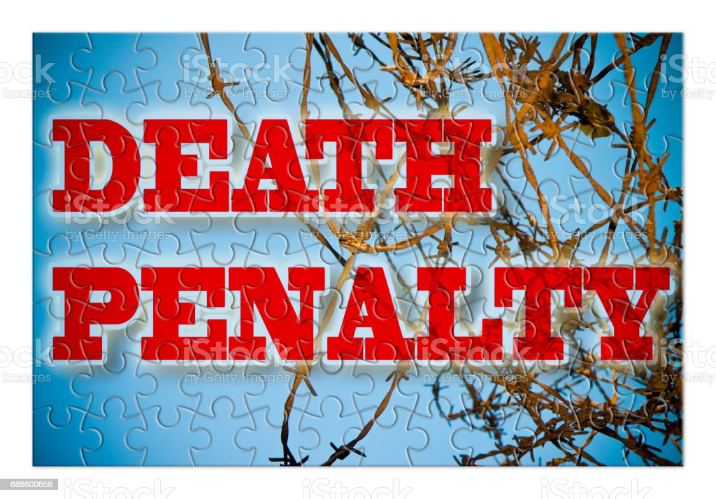 Abolition of the death penalty - concept image in puzzle shape stock photo