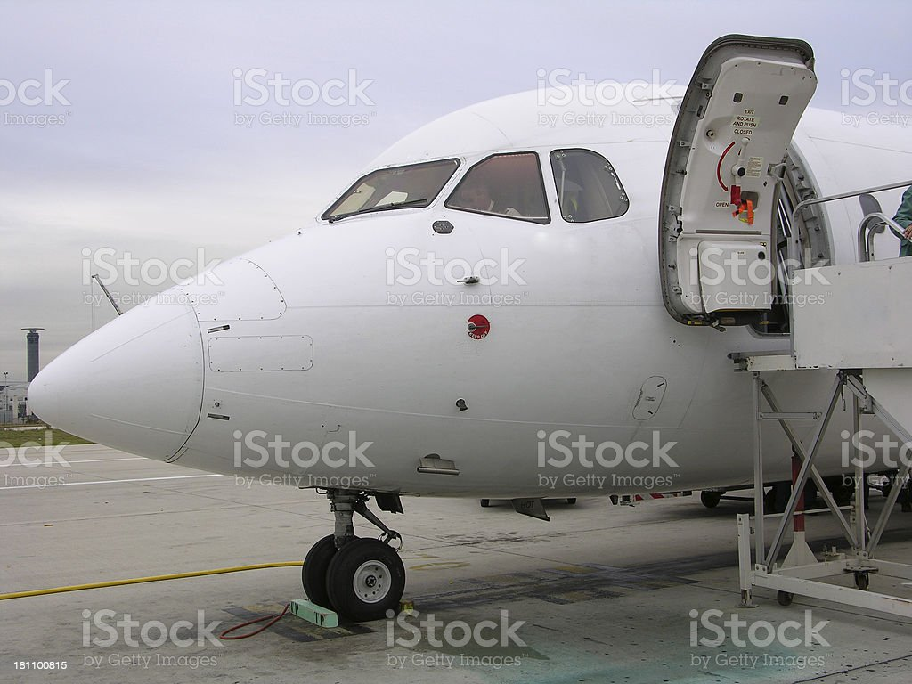 abordando city jet2 royalty-free stock photo