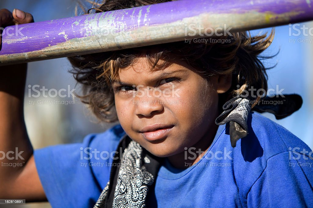 Aboriginal Child royalty-free stock photo