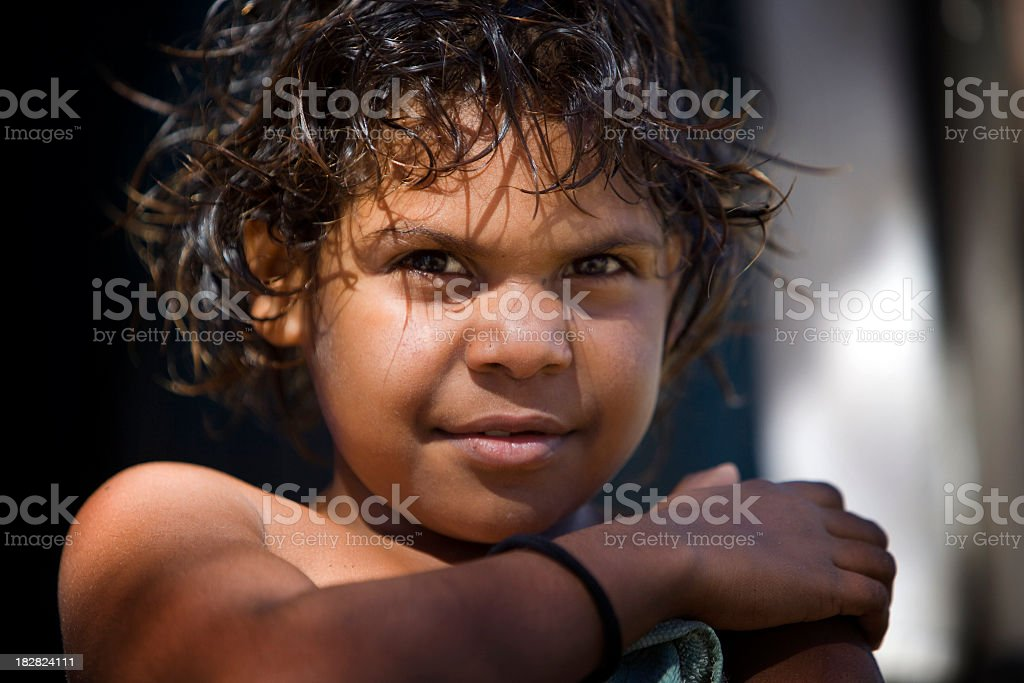 Aboriginal Child stock photo