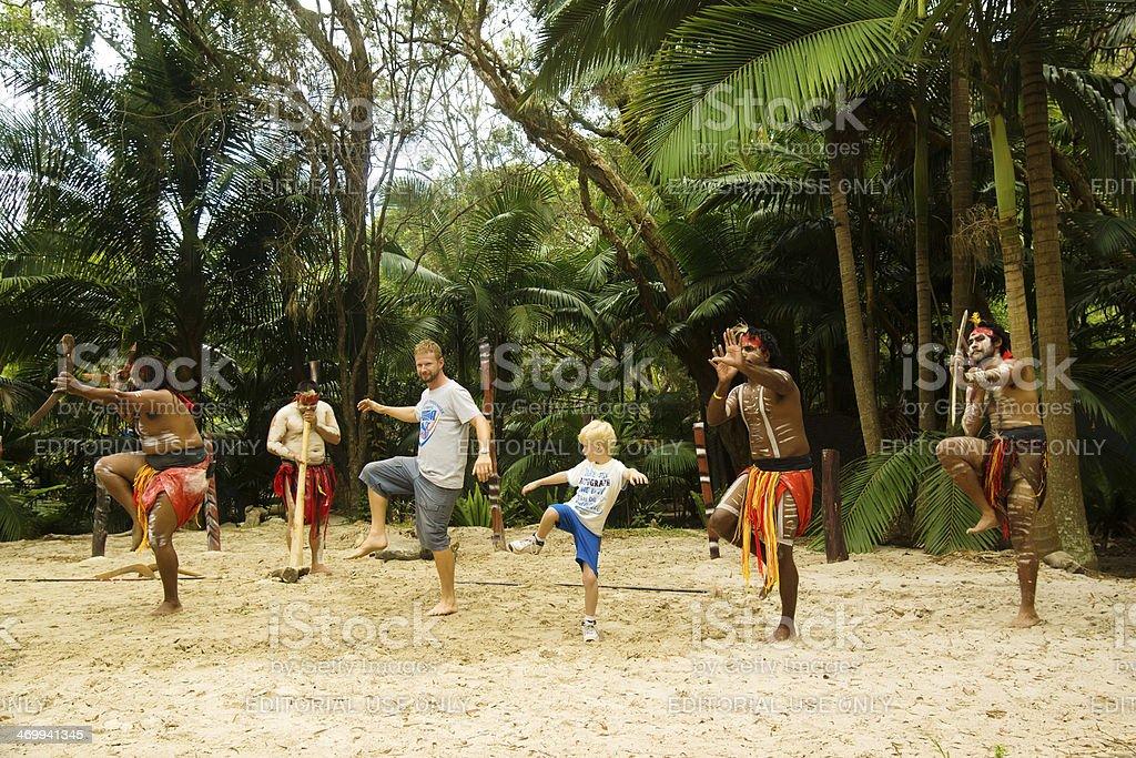 Aboriginal Dancers royalty-free stock photo