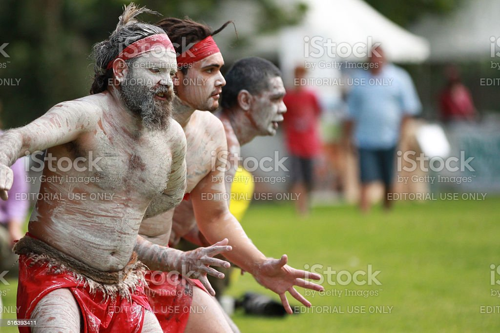 Aboriginal dancers stock photo