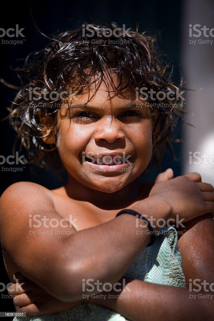 Aboriginal Girl royalty-free stock photo