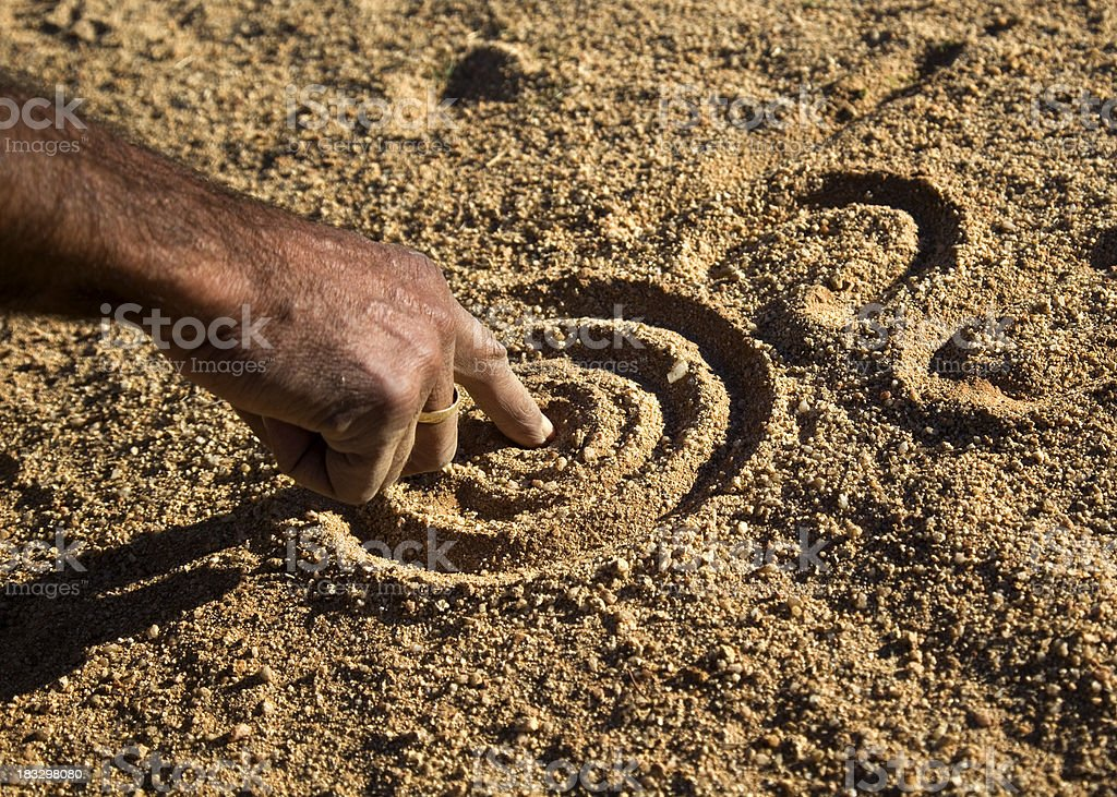 Aboriginal Hand stock photo