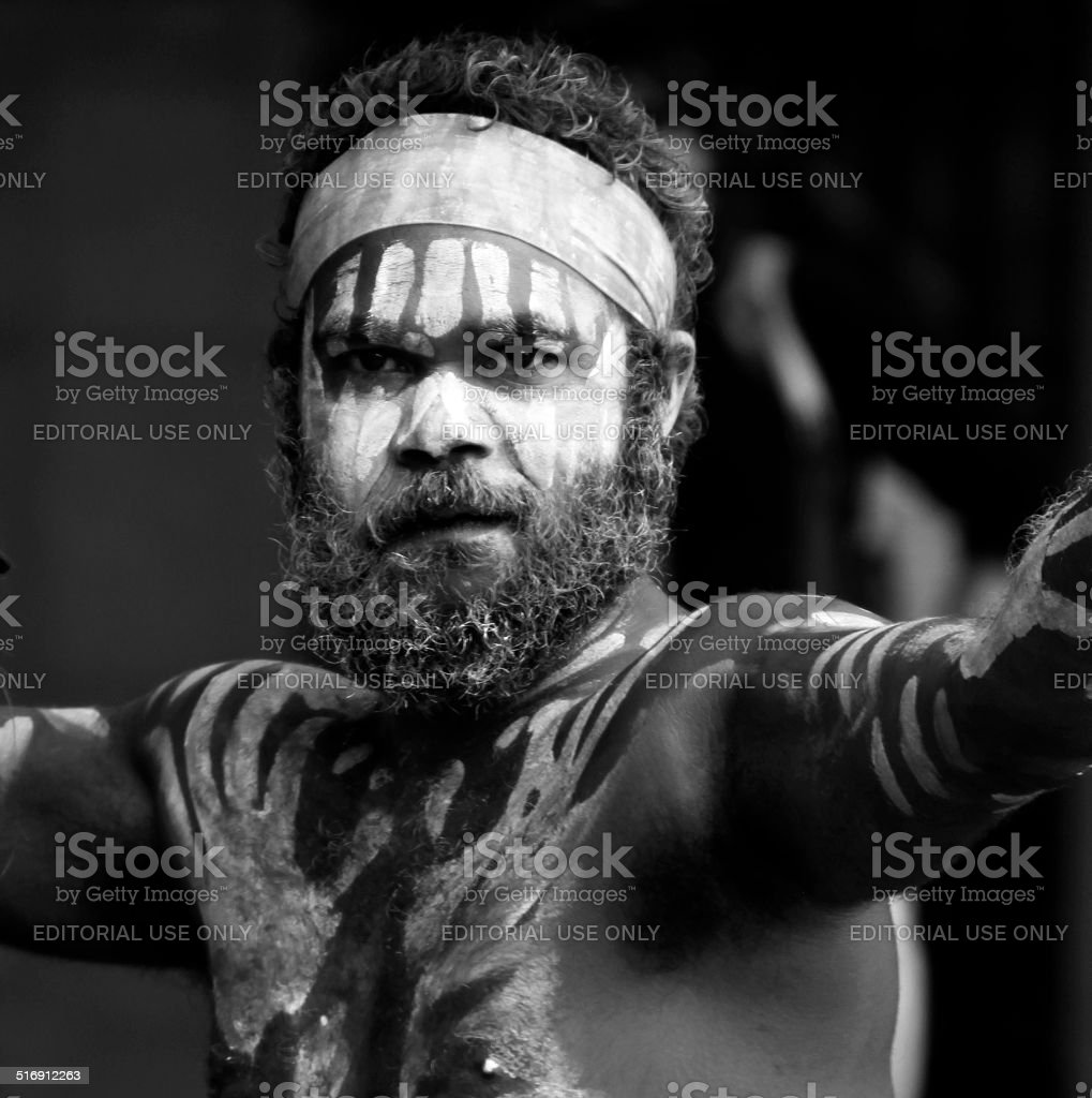 Aboriginal Man stock photo