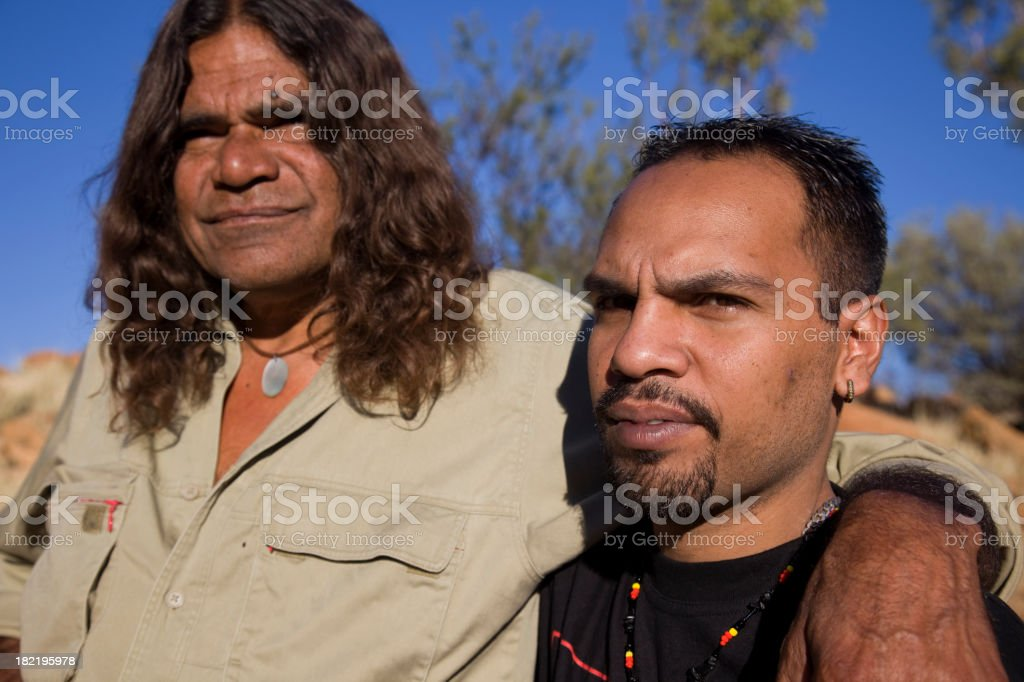 Aboriginal Men royalty-free stock photo