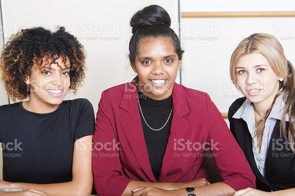 Aboriginal Office Women royalty-free stock photo