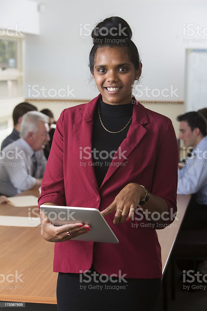 Aboriginal Tablet Computer Staff royalty-free stock photo