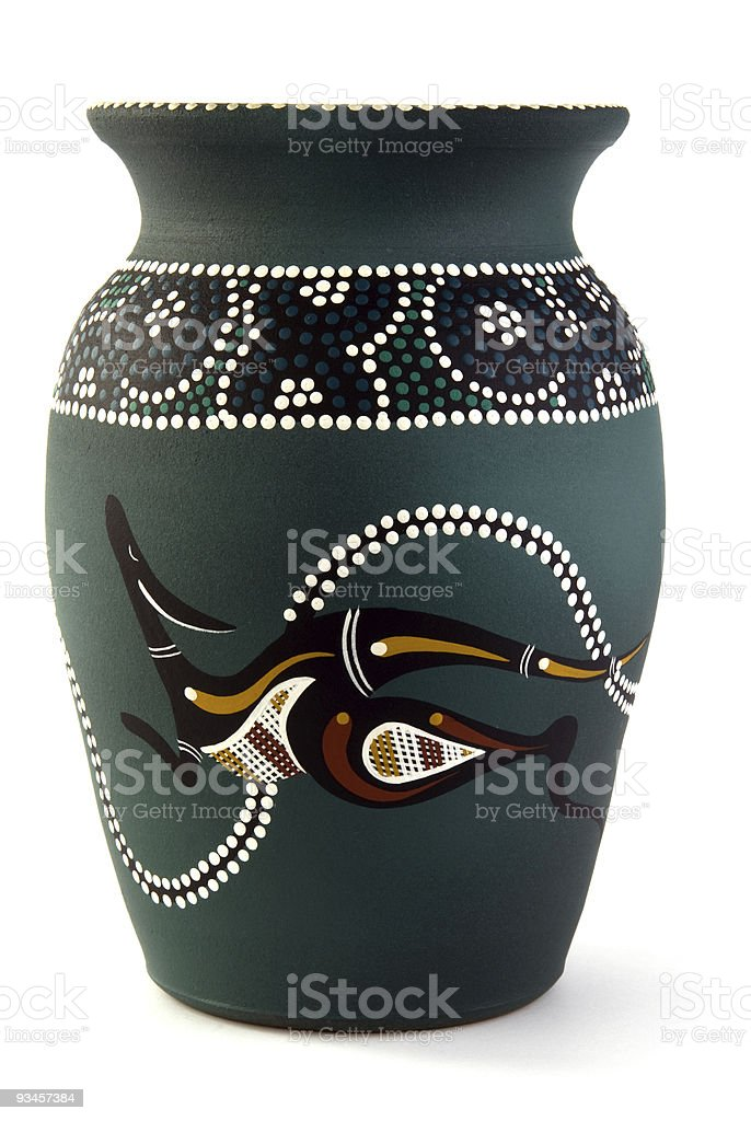aboriginal vase royalty-free stock photo