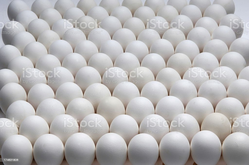 about a hundred eggs stock photo