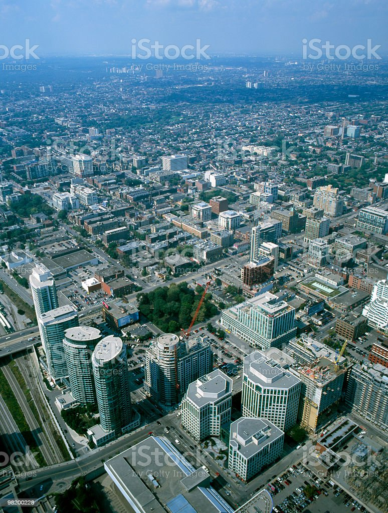 About Canada - Aerial View of Toronto / Skyline royalty-free stock photo