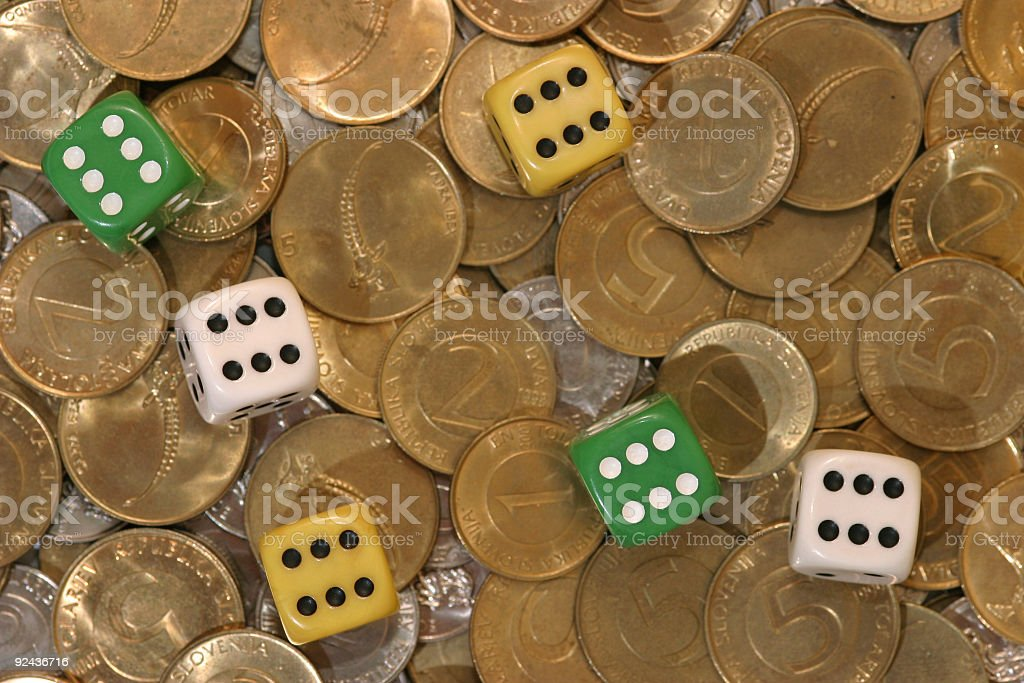 About gambling royalty-free stock photo