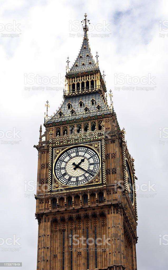 About London: Big Ben, Elizabeth Tower, Westminster, England (UK) royalty-free stock photo