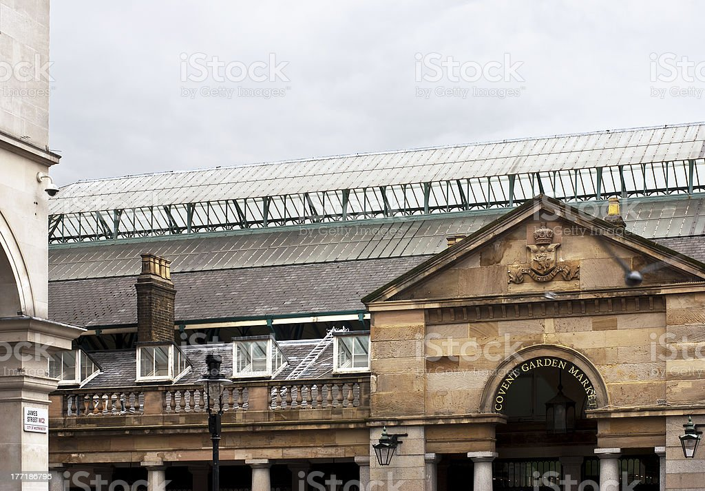 About London - Covent Garden Piazza Market Building, England UK royalty-free stock photo