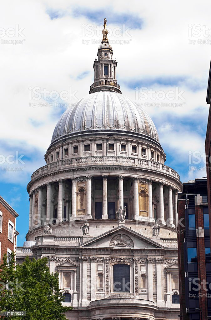 About London: St. Paul's Cathedral, England (UK) royalty-free stock photo