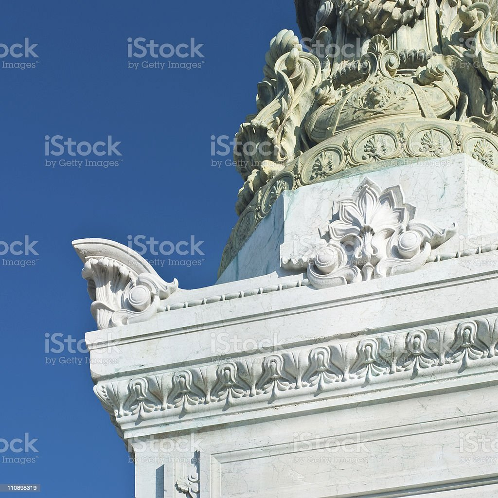 About Rome: Altare della Patria, Vittorio Emanuele Monument, Italy royalty-free stock photo