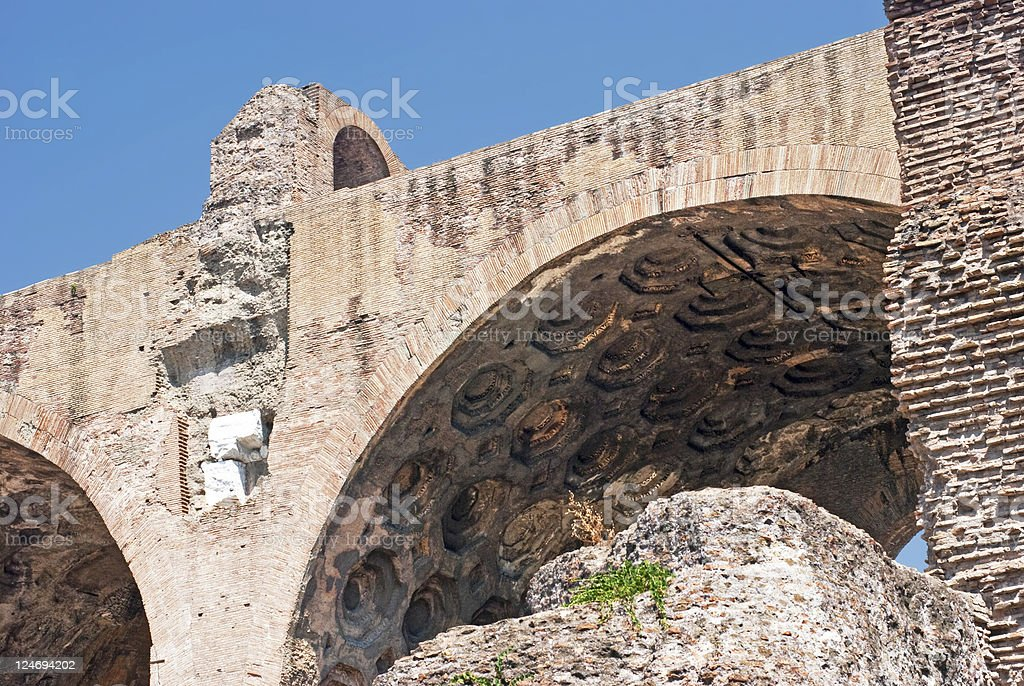 About Rome: Ancient Basilica Massenzio Costantino, Roman Forum, Italy / Beauty royalty-free stock photo