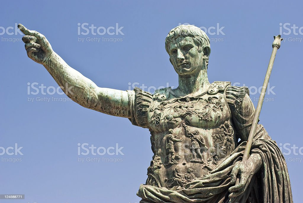 About Rome - Augustus Caesar / Bronze / Emperor / Italy stock photo