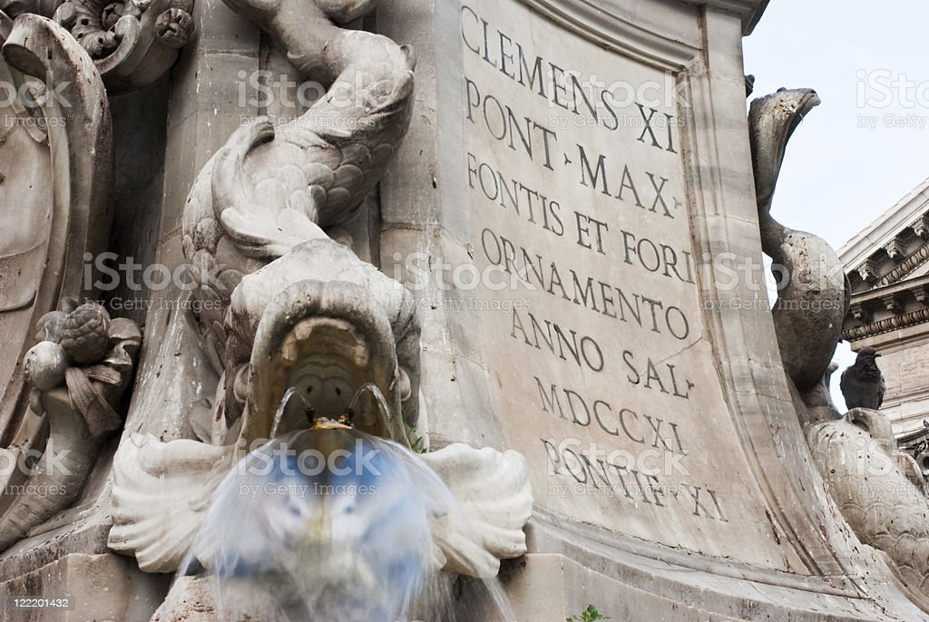 About Rome: Baroque Beauty in Piazza Rotonda, Pantheon, Italy royalty-free stock photo