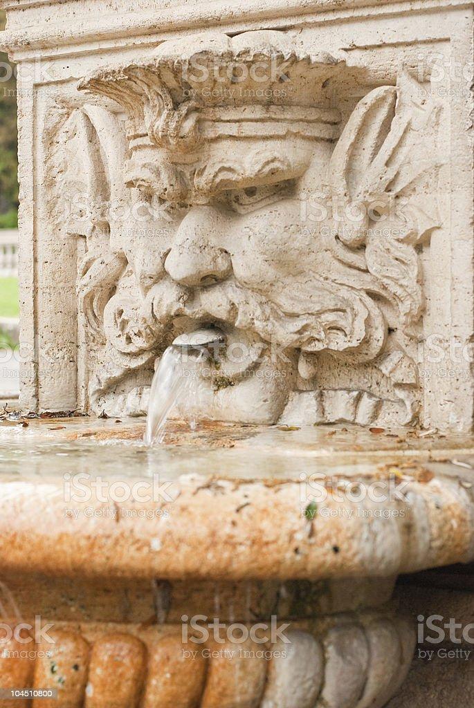 About Rome: Bas-relief Fountain, Villa Borghese Gardens, Italy / Roman Beauty stock photo