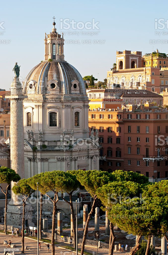 About Rome: Church Santissimo Nome Maria, Foro Traiano, Italy royalty-free stock photo