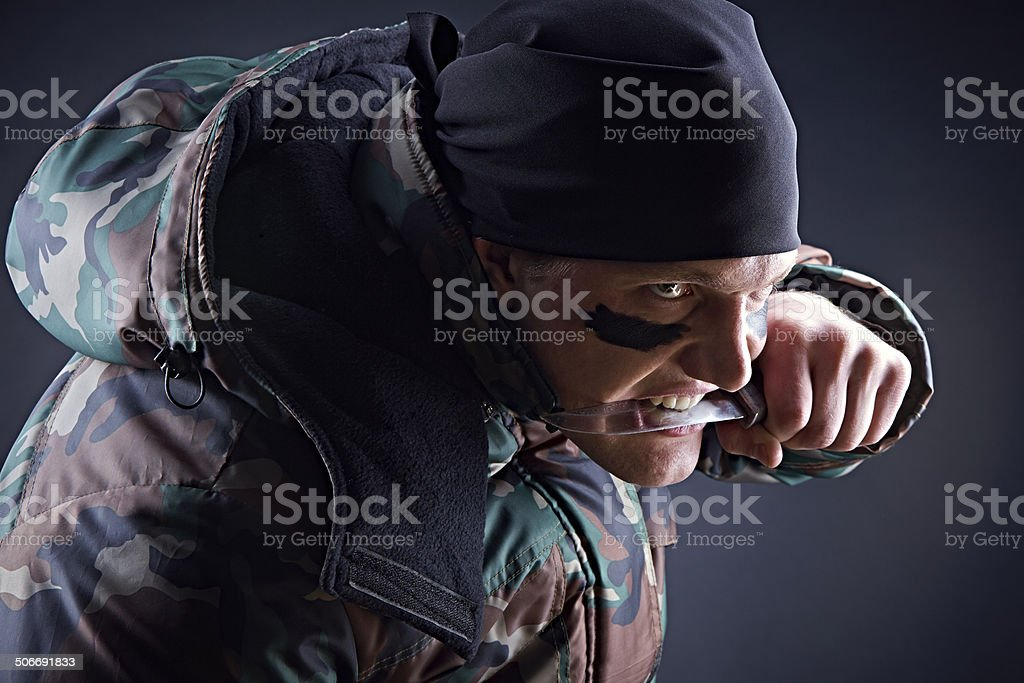 About to attack stock photo