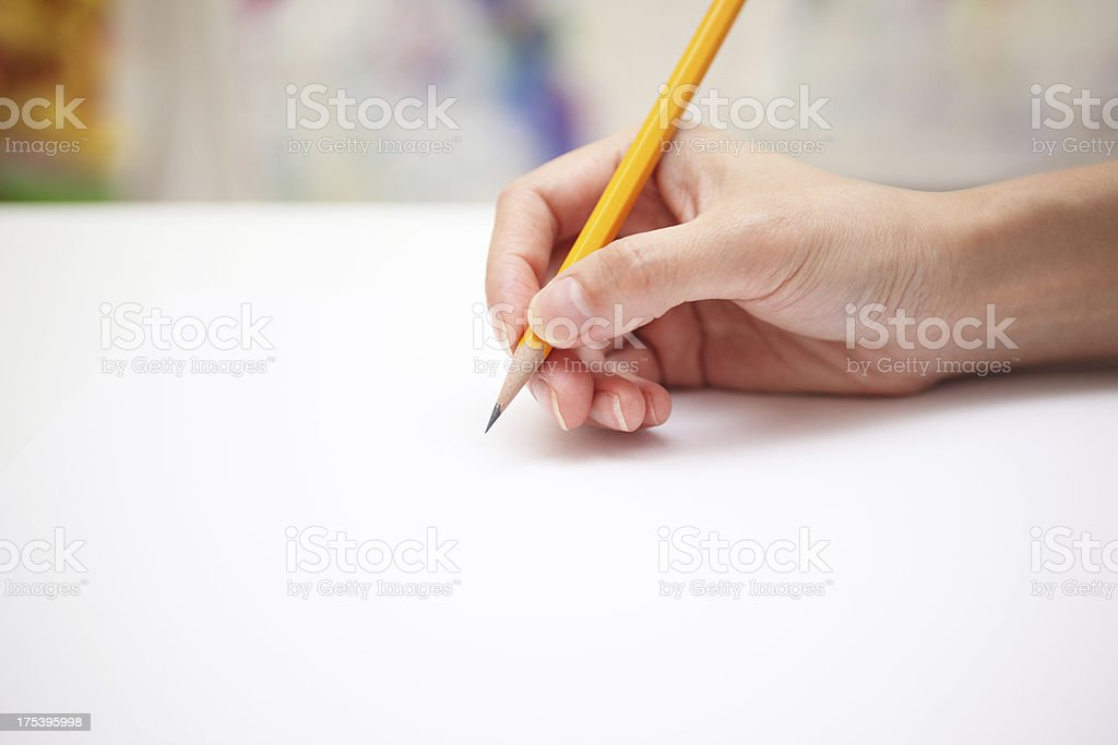 About to Draw stock photo