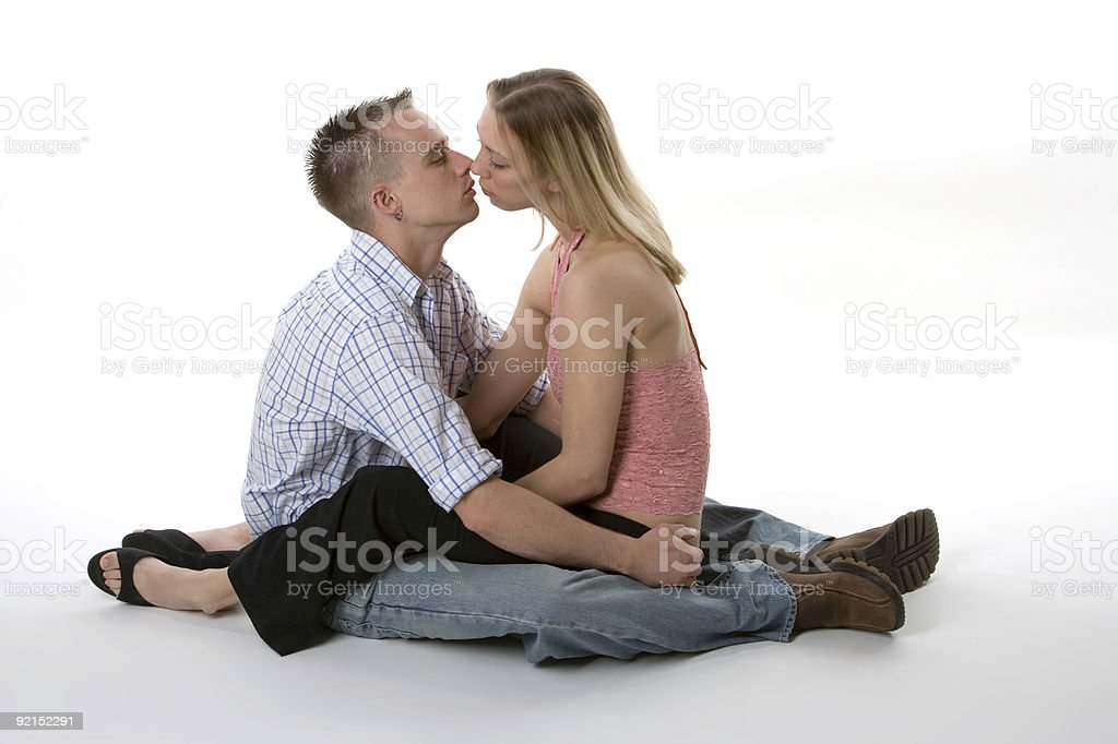 About To Kiss stock photo
