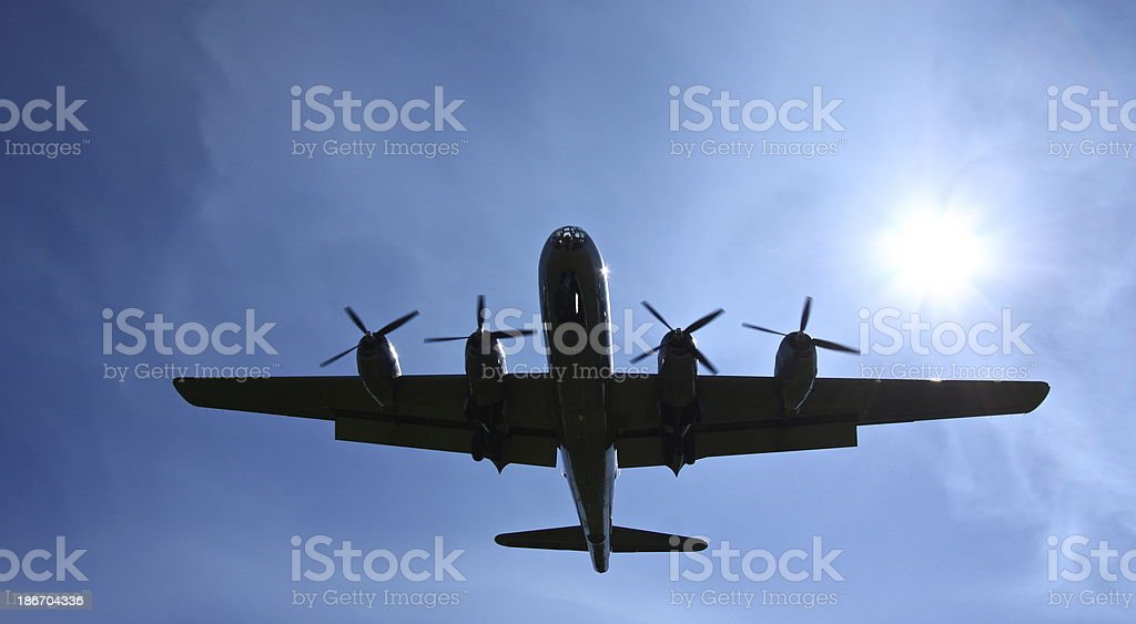 About to land royalty-free stock photo
