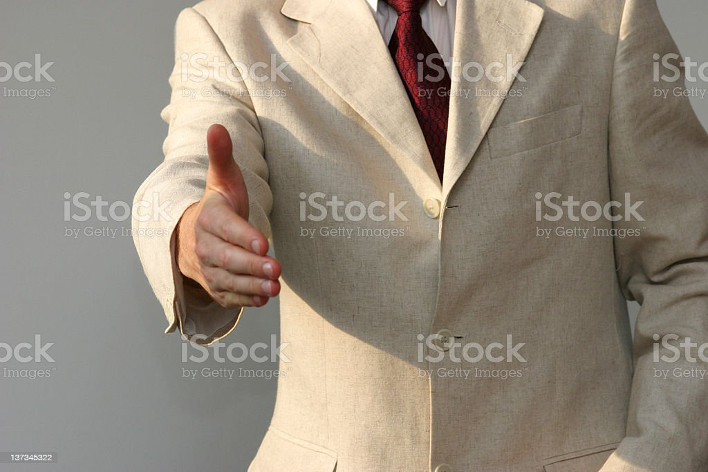 About to make a deal royalty-free stock photo