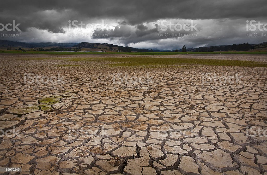 About to rain - Drought stock photo