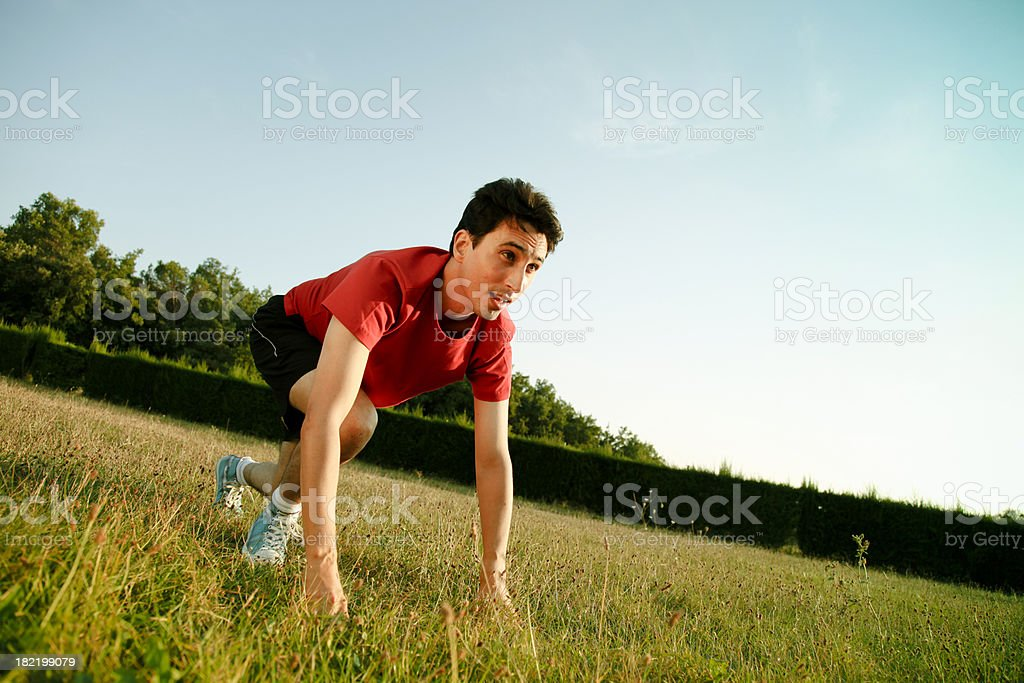 About to run royalty-free stock photo
