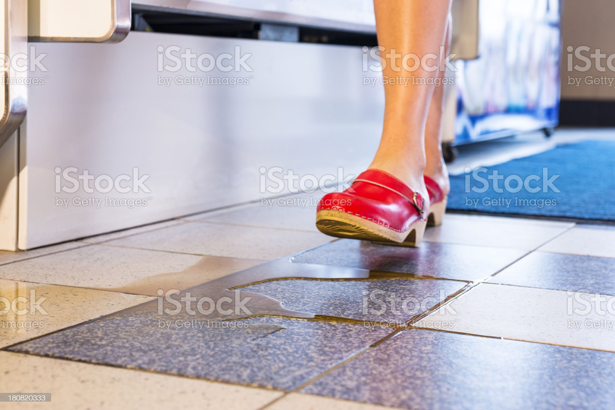 About to step into a spill royalty-free stock photo