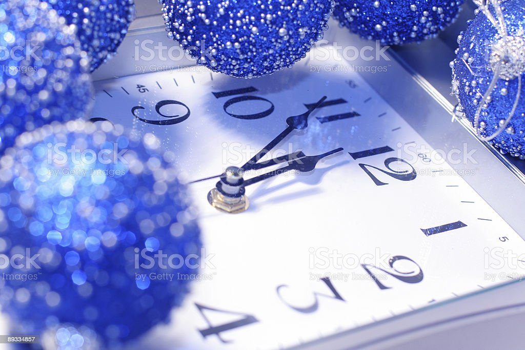 About twelve hours  be f New Year 2007 royalty-free stock photo