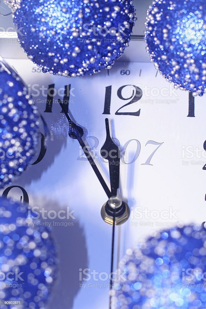 About twelve hours before New Year 2007. royalty-free stock photo