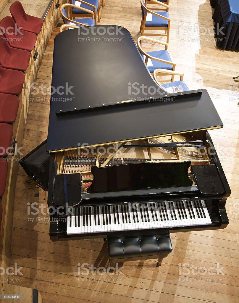 Above a grand piano stock photo