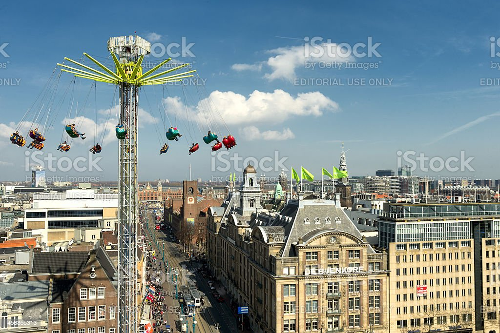 above Amsterdam royalty-free stock photo