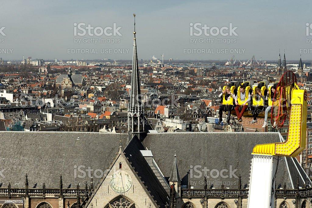 above Amsterdam stock photo