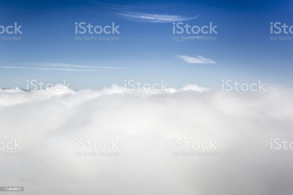Above clouds in the sky royalty-free stock photo