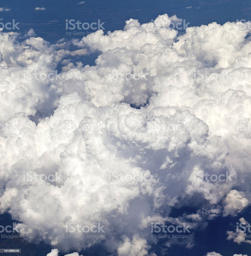 Above dense cloudscape royalty-free stock photo