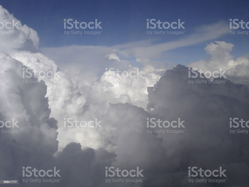 above dramatic clouds and sky royalty-free stock photo
