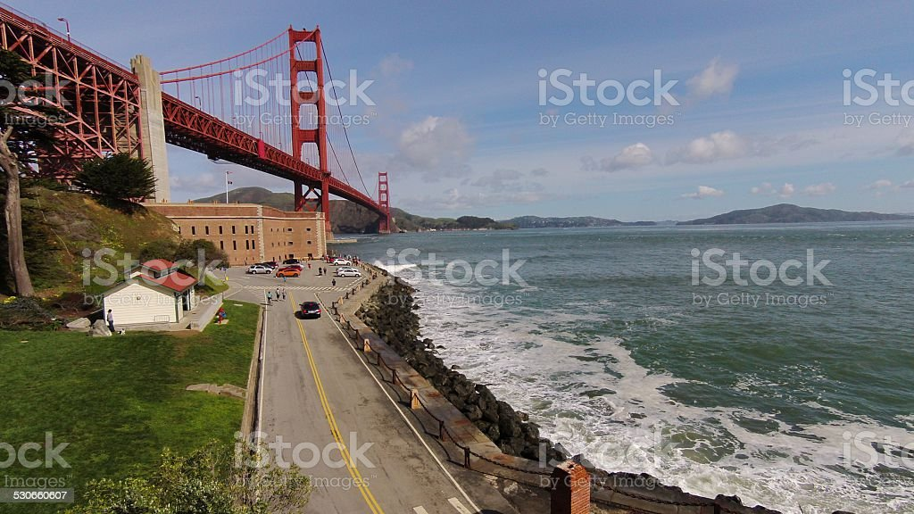 Above Fort Point Hayes San Francisco stock photo