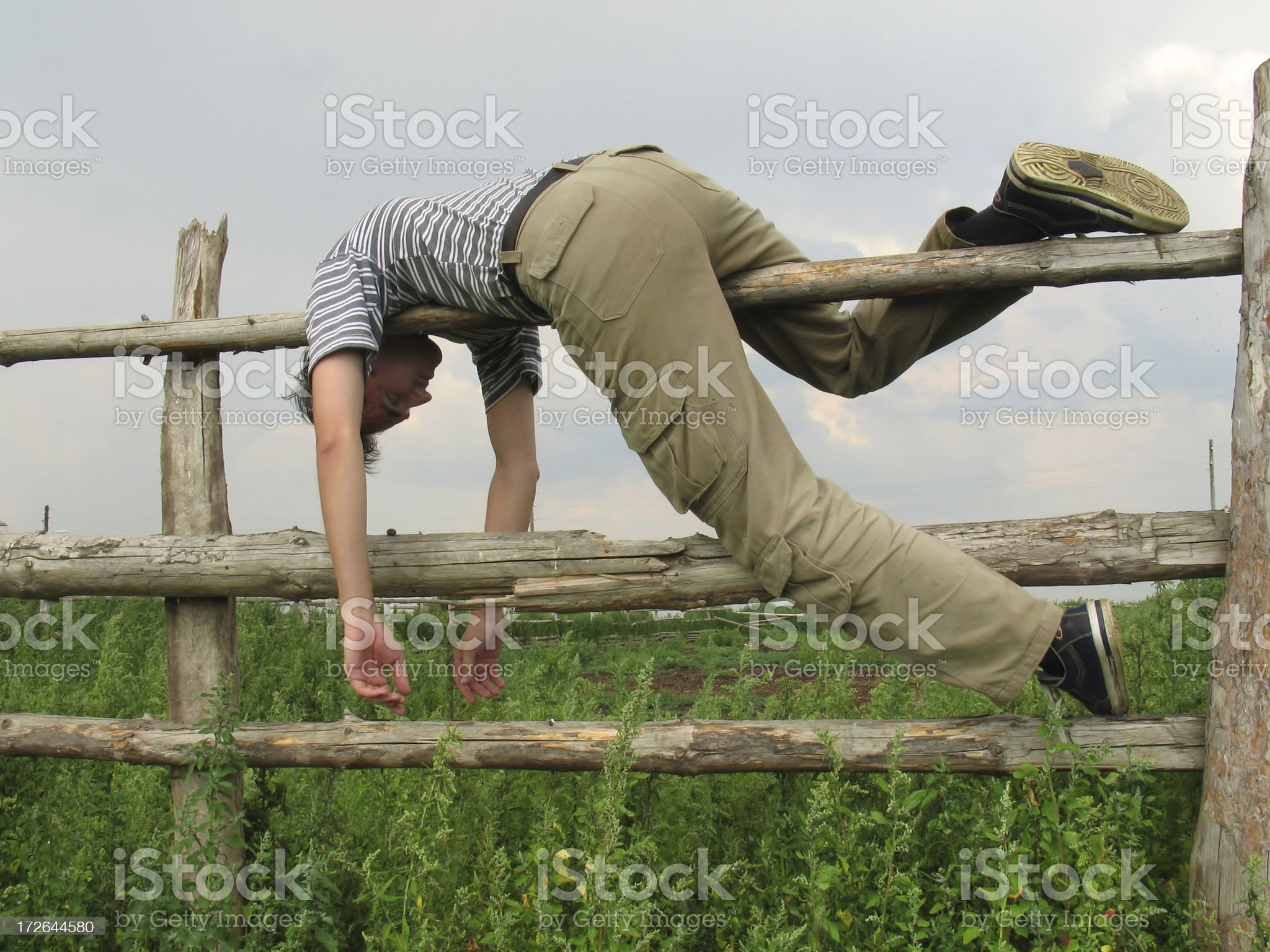 Above His Bend royalty-free stock photo