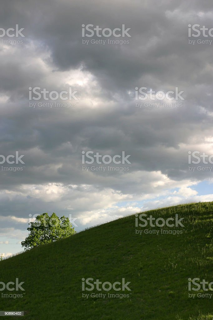 Above is a threatening sky royalty-free stock photo