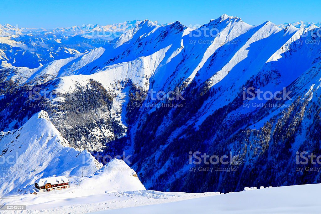Above Kaprun, Zell Am See, Kitzbuhel Alps and Tirol, Austria stock photo