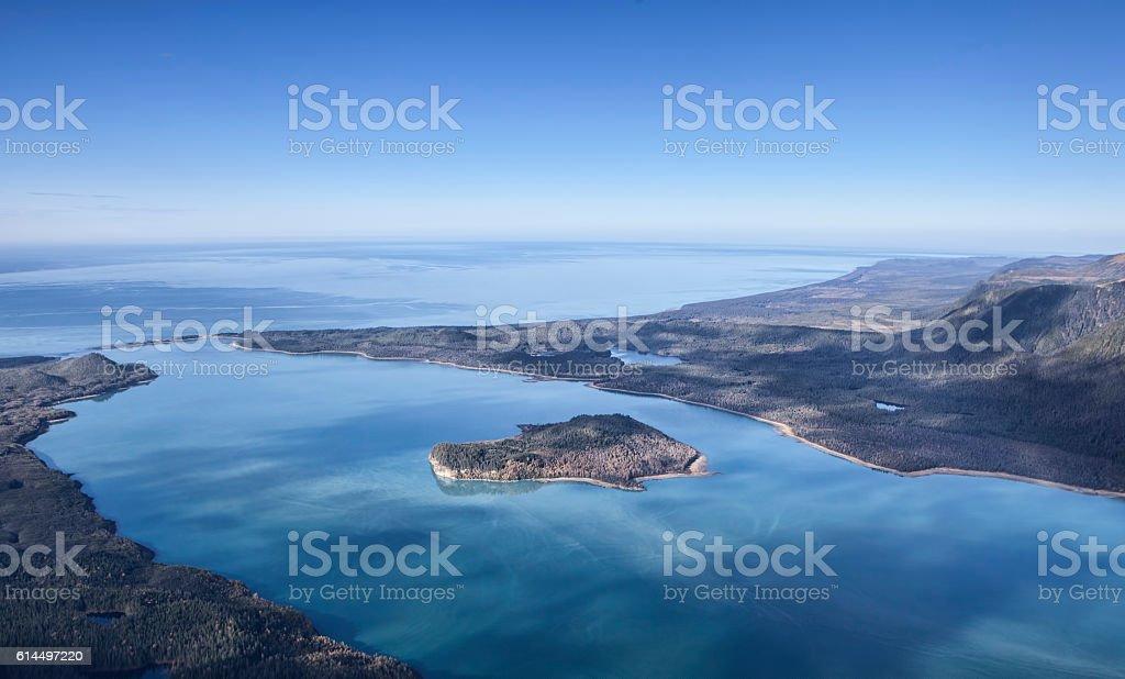 Above Lituya Bay stock photo