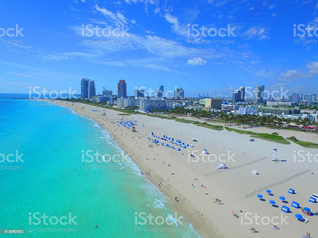 Above Miami Beach stock photo