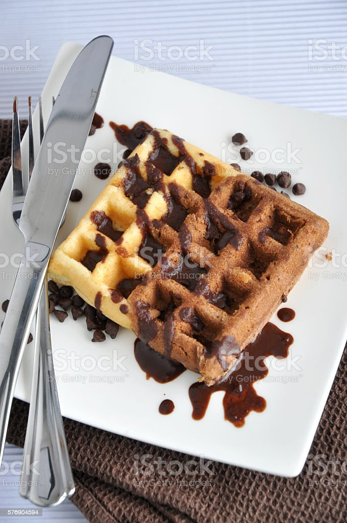 Above of Two Tone Waffle stock photo